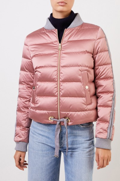 Herno Down jacket with college collar Light Pink