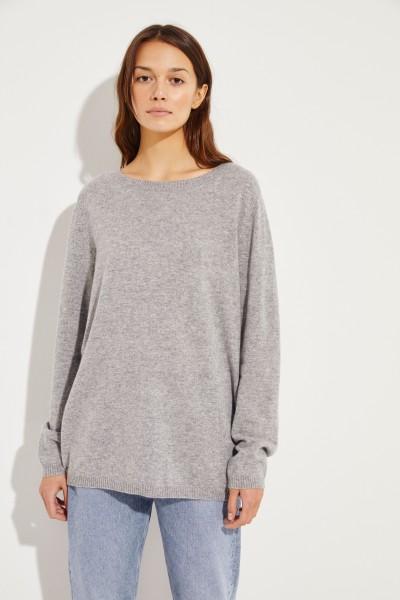Klassischer  Cashmere-Pullover Grau