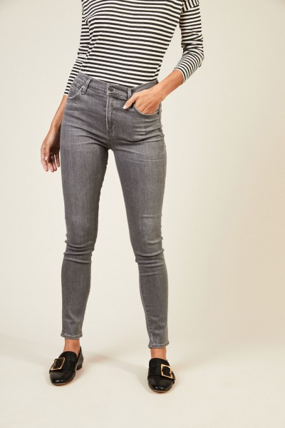 High Rise Skinny 'Rocket' Grau