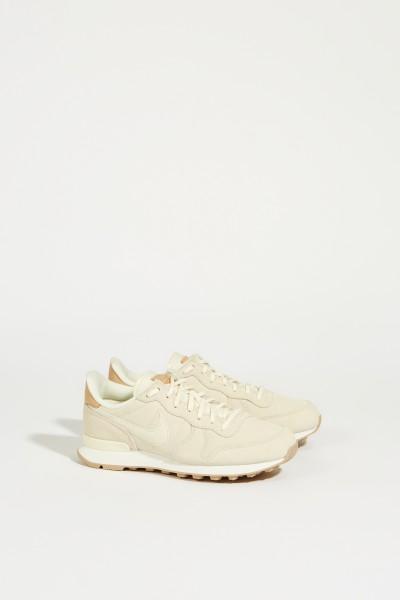 Veloursleder-Sneaker 'Internationalist' Crème