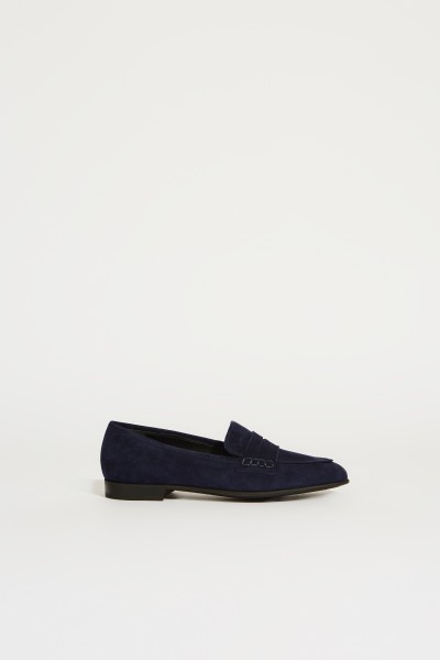 Suede leather slipper 'Romika' Blue