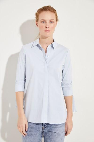 Bluse mit Bindedetails Blau