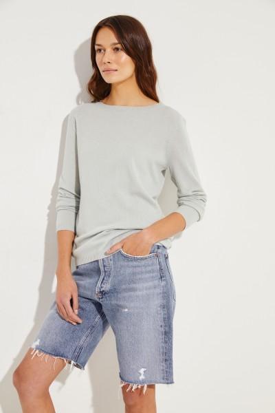 Klassischer Cashmere-Pullover Salbei