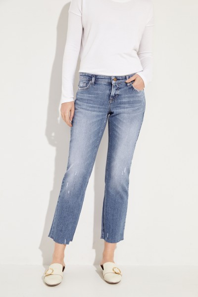 Jeans 'Loana' im Used-Look Blau