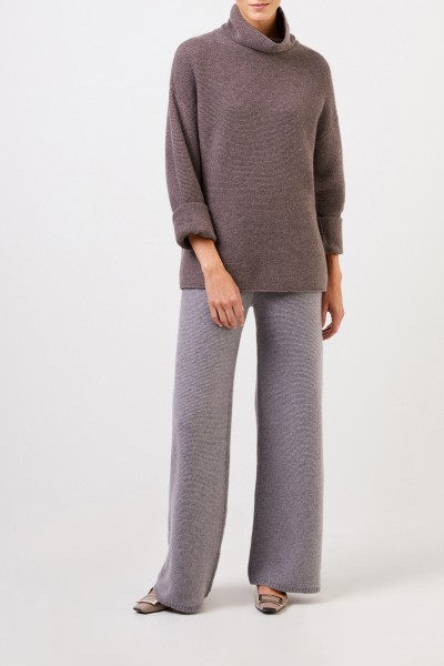 Uzwei Cashmere pullover with turtleneck Brown