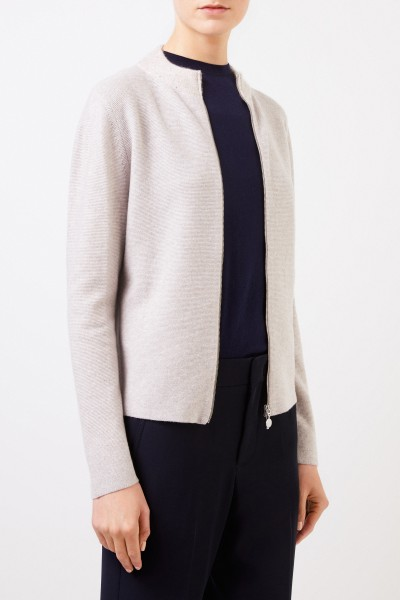 Fabiana Filippi Woll-Seiden-Cardigan mit Paillettendetails Beige
