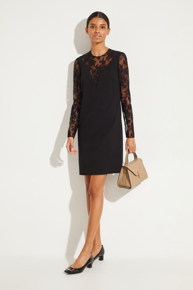Givenchy Kleid mit Lace-Details Schwarz
