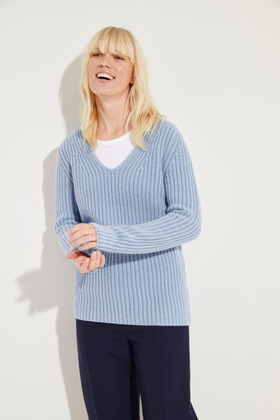 Cashmere-Pullover 'Madita' Blau