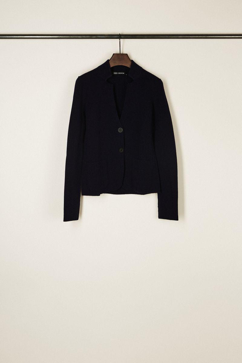 Doubleface Cashmere-Blazer 'Dali' Marineblau