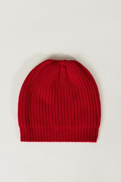 Cashmere-Mütze Rot