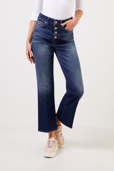 7 for all mankind Bootcut-Jeans mit Knöpfen Blau