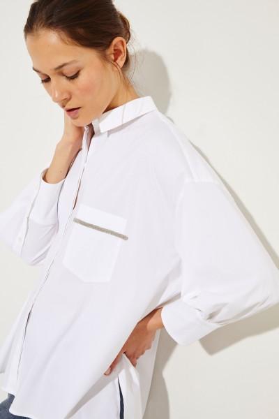 Oversize Bluse mit Verzierung