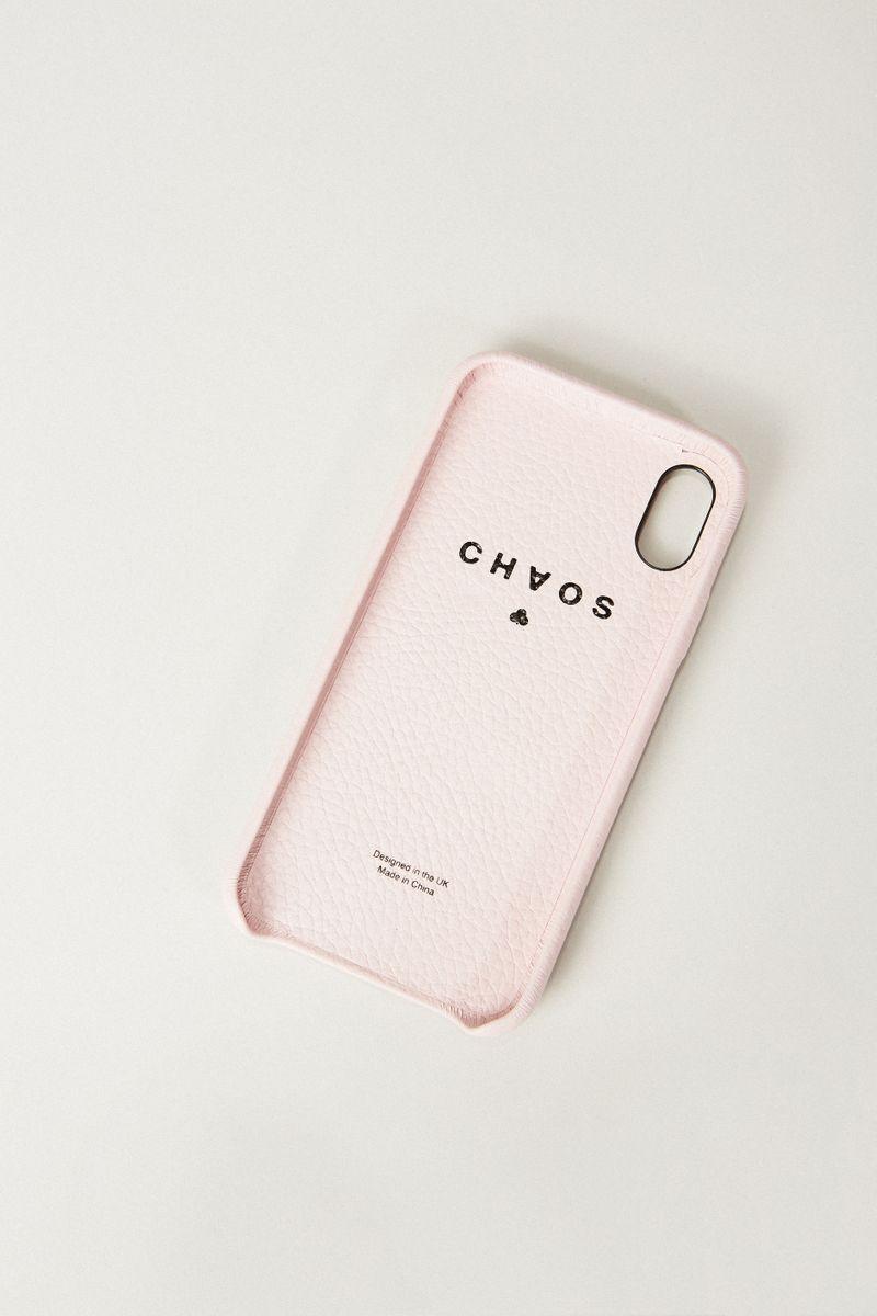Iphone Case X mit Herzapplikation Rosé