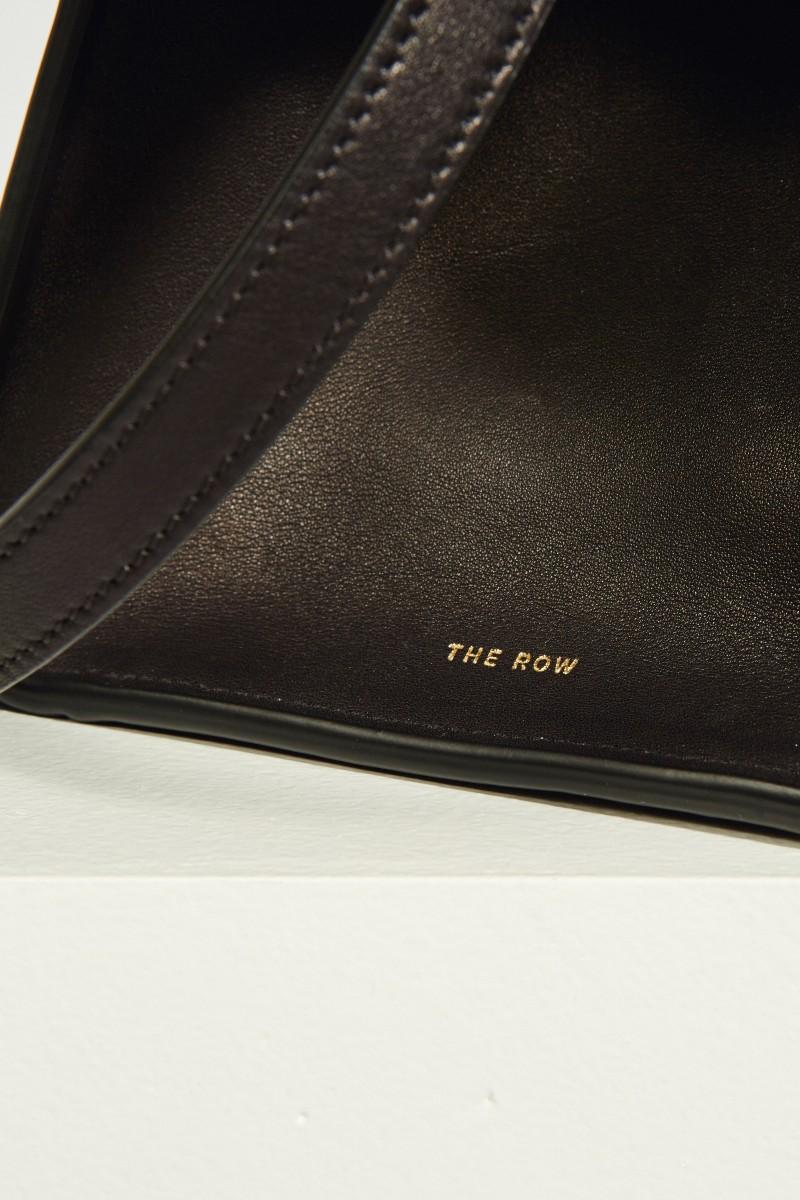 The Row Leder-Handtasche 'Margaux' Schwarz