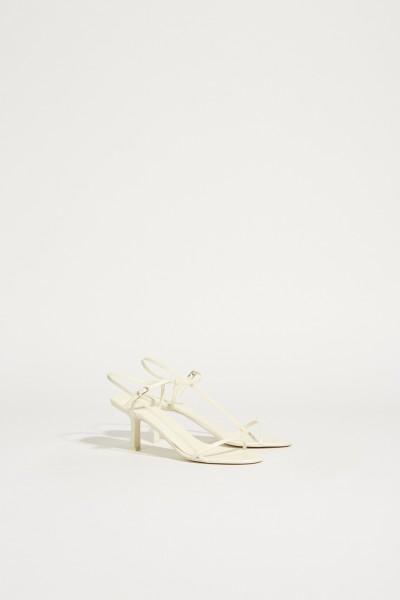 Sandalen aus Leder 'Bare' Weiß