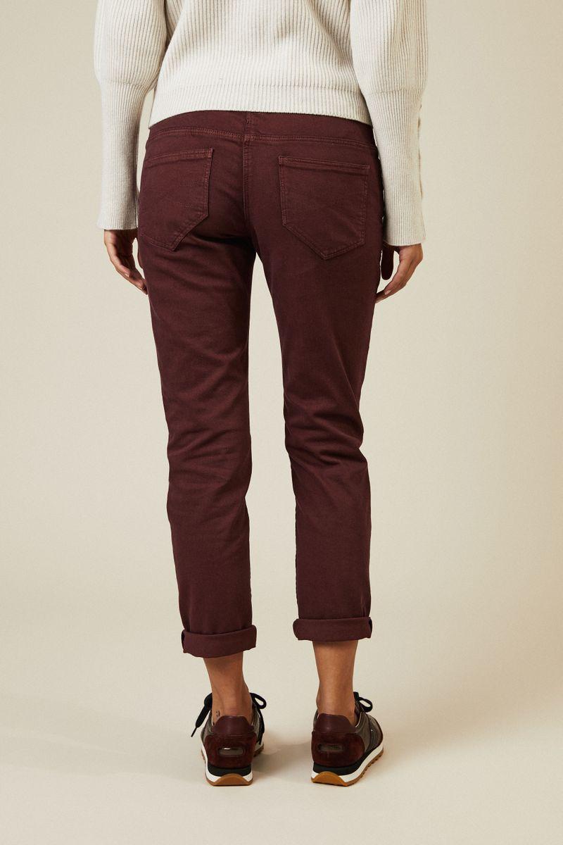 Slim-Fit Jeans Bordeaux