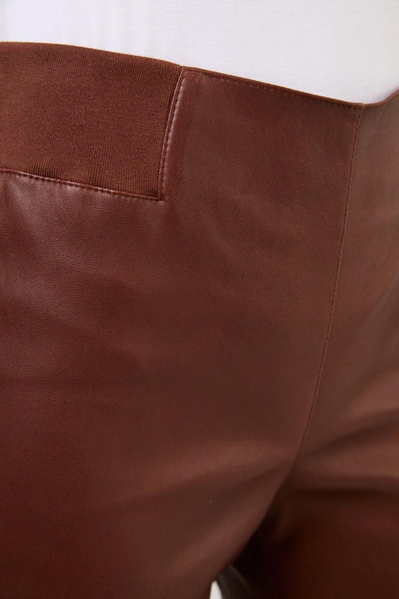 Brunello Cucinelli Klassische Lederhose Braun