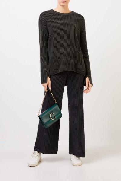 Iris von Arnim Langer Cashmere-Pullover 'Santorina' Dunkelgrün