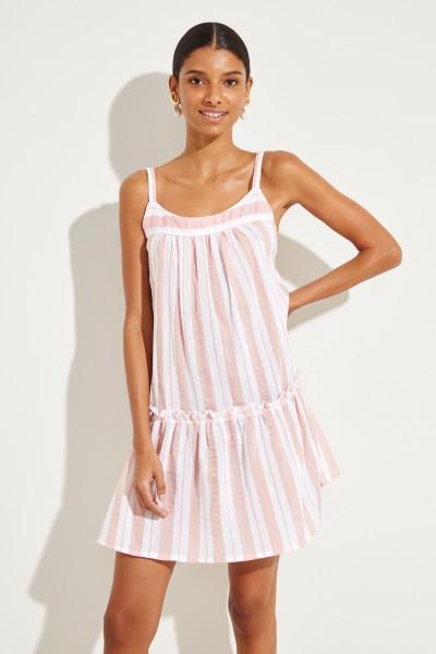 Gestreiftes Kleid 'Doro' Rosé/Weiß
