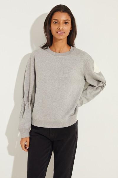 Sweatshirt mit Details Grau