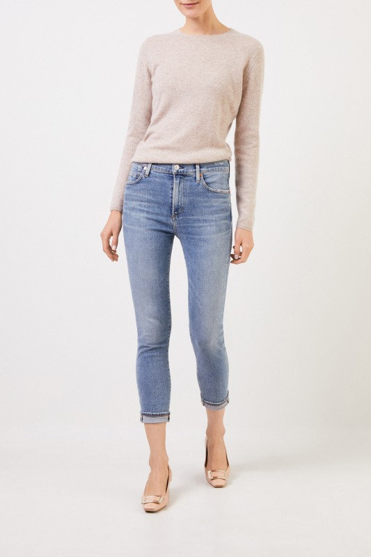 Citizens of Humanity Highrise skinny jeans 'Rocket Rocket Croppped' Light Blue