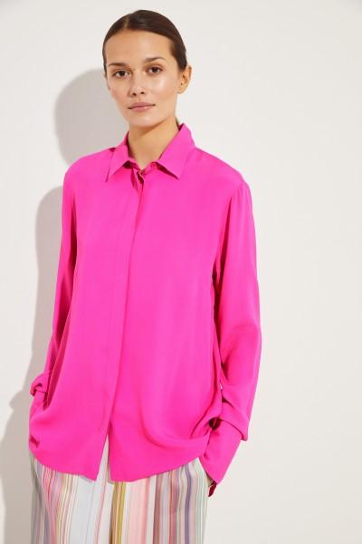 Bluse mit Schlitz Pink
