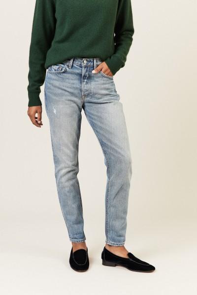 High-Rise-Jeans 'Karolina' Blau