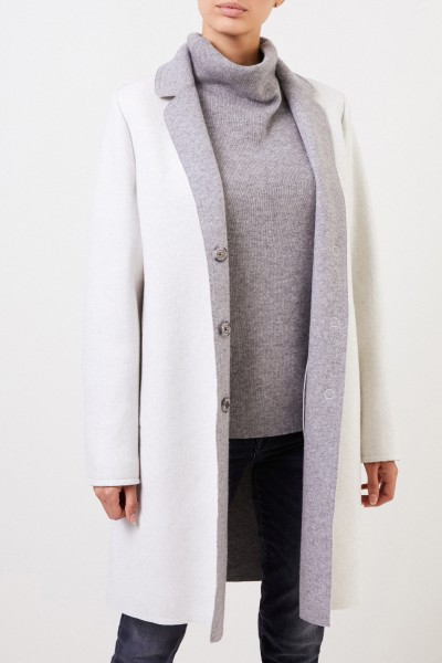 Lorena Antoniazzi Wool cashmere coat Grey