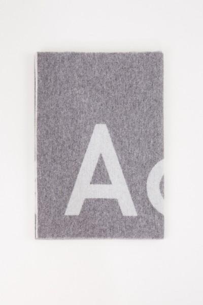 Acne Studios Woll-Schal 'Toronty Logo' Grau