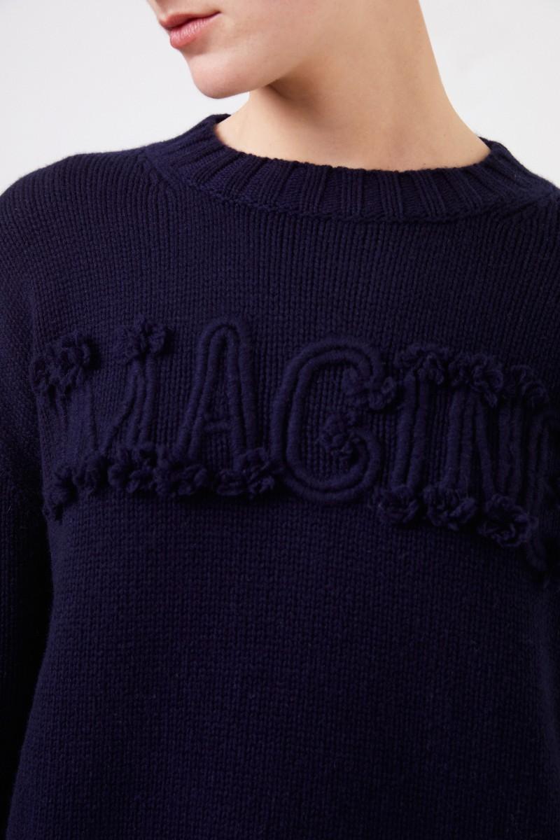 Iris von Arnim Cashmere-Pullover 'Imagine' Marineblau