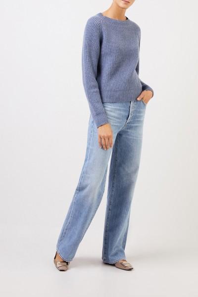 Uzwei Rippstrick-Cashmere-Pullover Denimblau