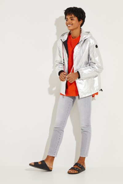 Moncler Jacket 'Mikael' with hood Silver