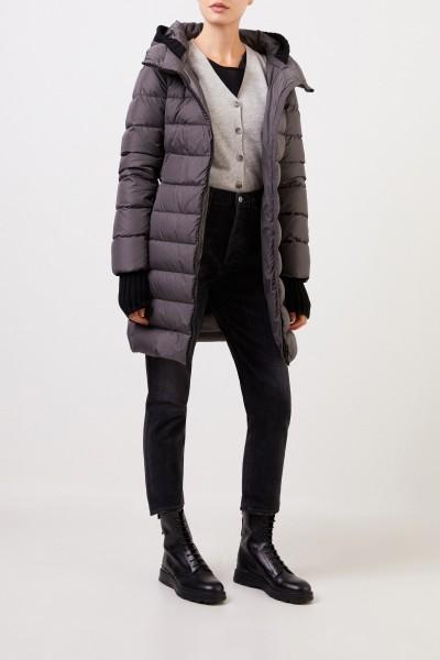 Herno Down jacket with hood Grey