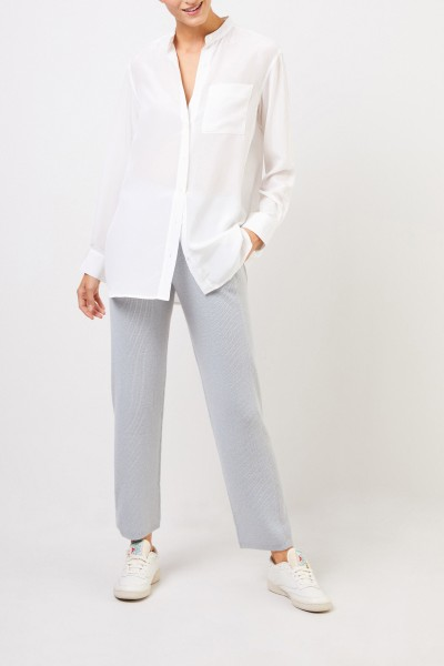 Uzwei Classic silk blouse White