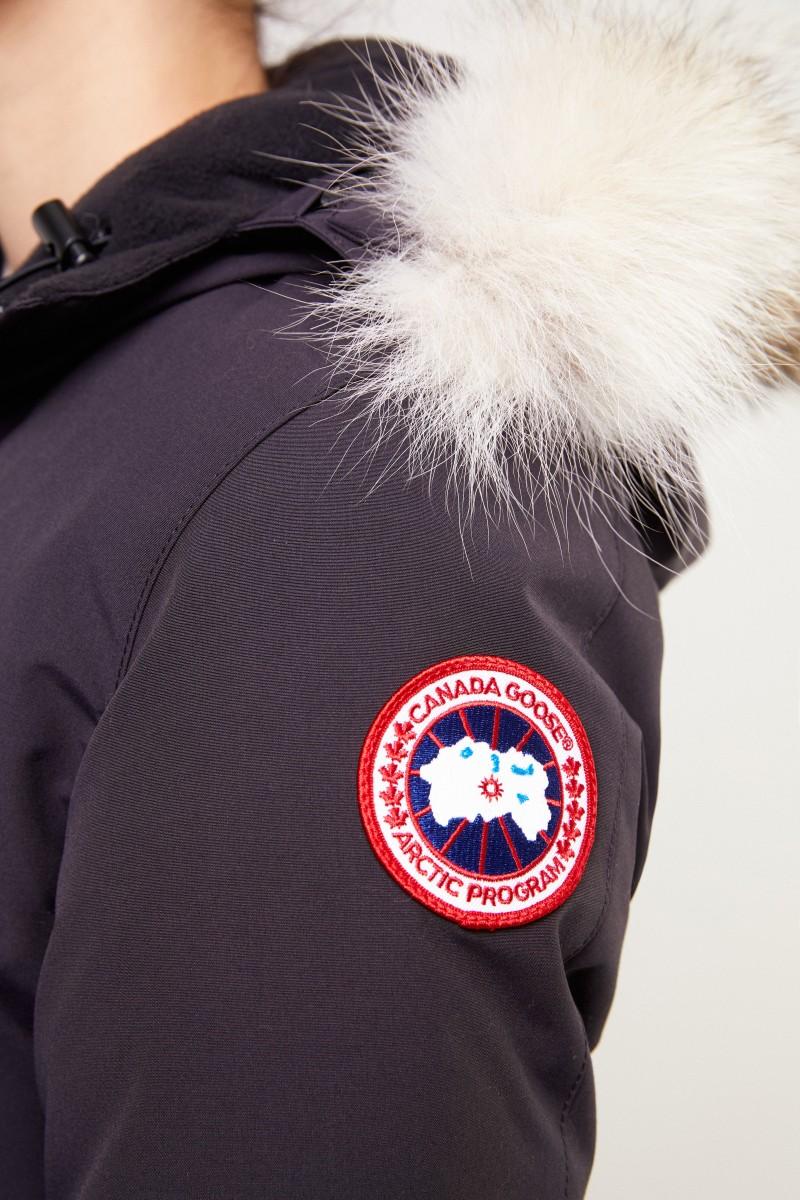 Canada Goose Daunenparka 'Victoria Parka' mit Fellkragen Marineblau