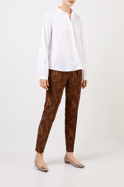 Pants 'Ros' with Chainprint Brown/Multi