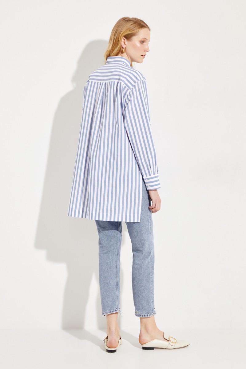 Bluse 'Sienna Stripe' Blau/Weiß