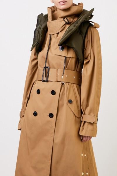 Sacai Trenchcoat with vest details Beige/Khaki