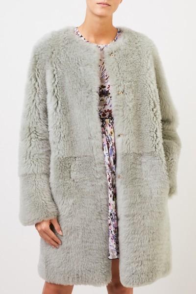Yves Salomon Reversible lambskin coat Sage