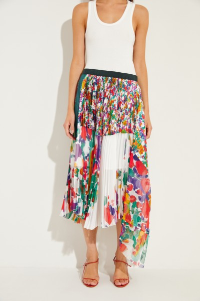 Pleated skirt with print Multi