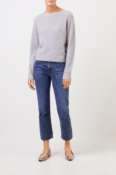 UZWEI Rippstrick-Cashmere-Pullover Grau