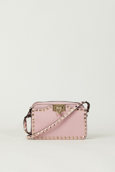 Umhängetasche 'Rockstud Camera Bag' Rosé
