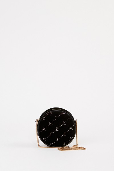 Stella McCartney Round velvet bag 'Mini Round Bag' Black
