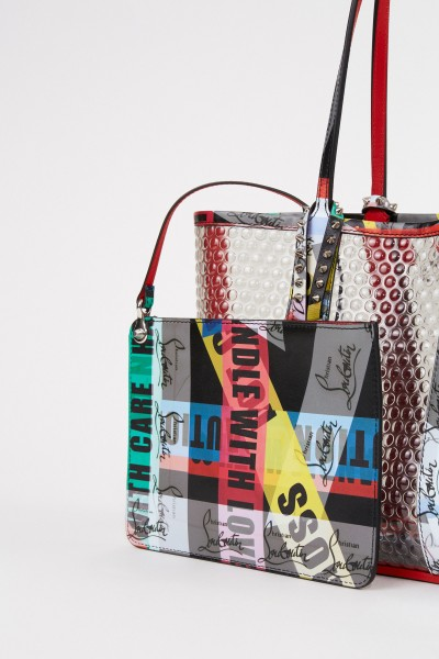 Christian Louboutin Shopper with rivet details 'Cabata Small' Multi