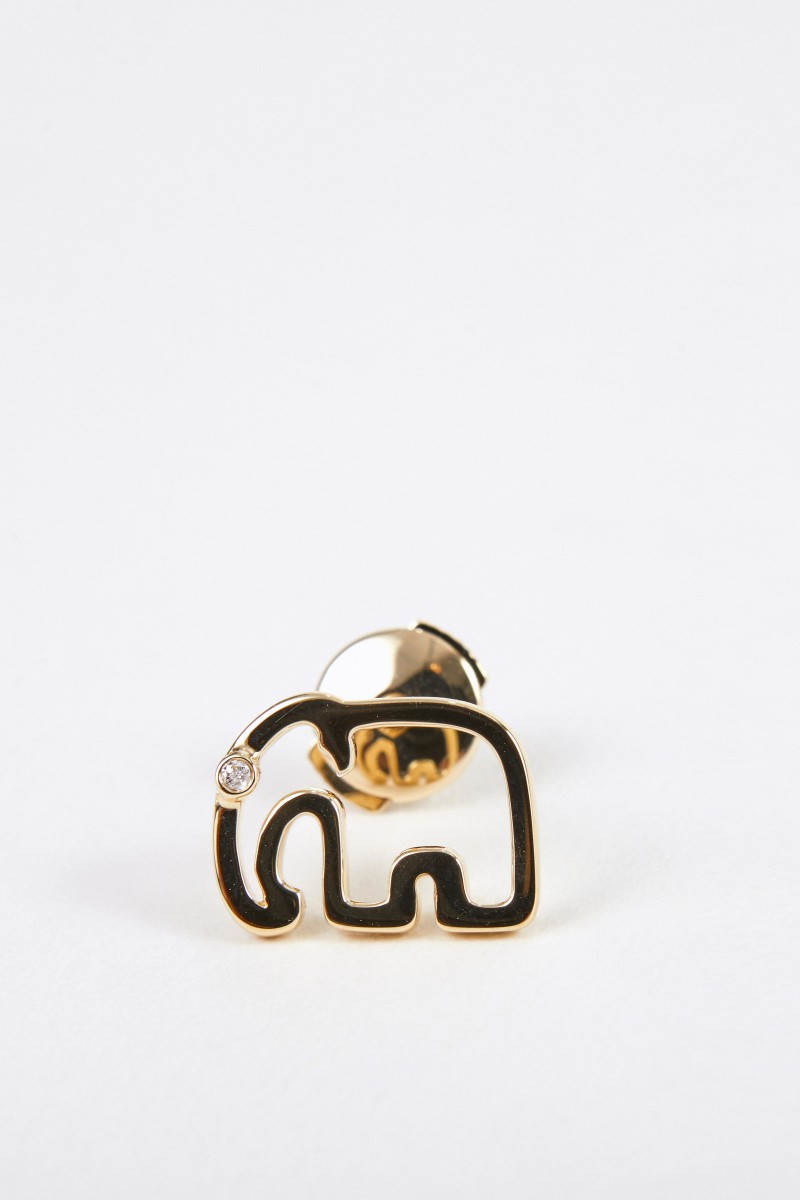 Yvonne Leon Ohrstecker 'Puce Elephant' mit Diamant Gold