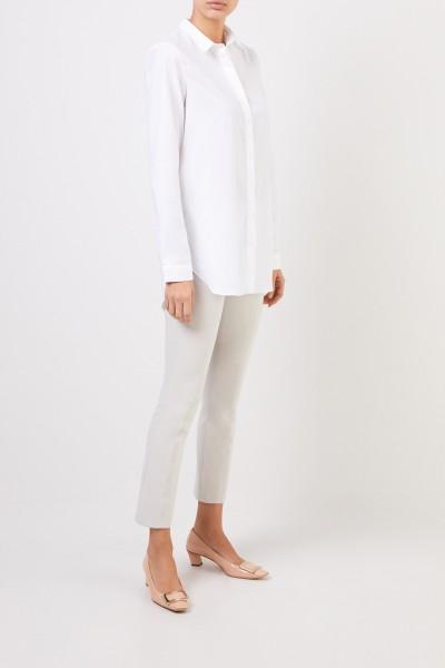 Klassische Baumwoll-Bluse 'Salome' Weiß