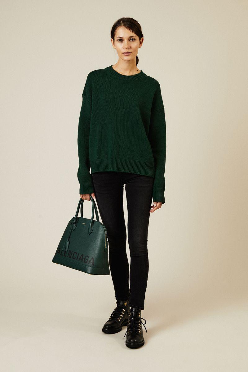 Woll-Cashmere-Pullover Grün