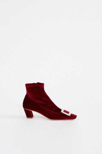 Roger Vivier Ankle Boots 'Belle Vivier' Bordeaux