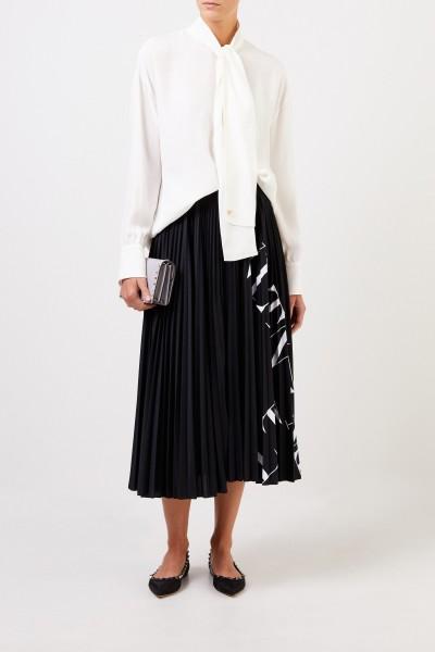 Valentino Seiden-Bluse mit Bindedetail Crème