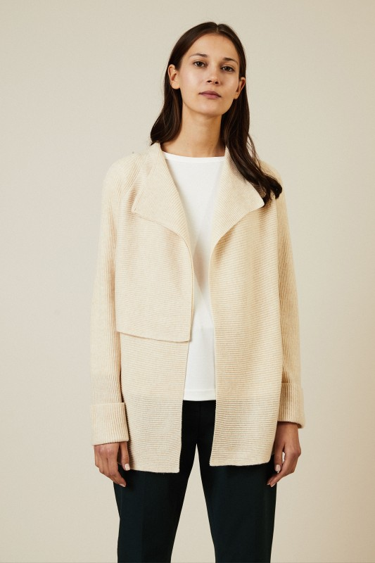 Woll-Cashmere Cardigan Crème